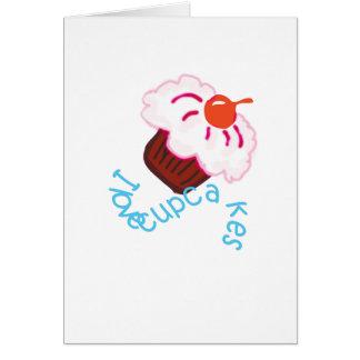 amo las magdalenas tarjeta de felicitación