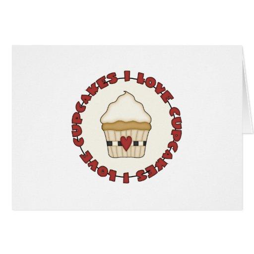 Amo las magdalenas tarjeta pequeña
