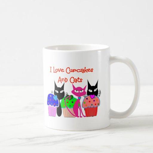 """""""Amo las magdalenas y los gatos""""--Regalos de los a Tazas"""