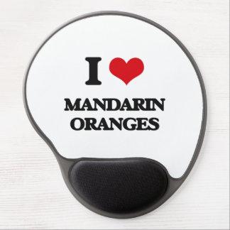 Amo las mandarinas alfombrilla de raton con gel