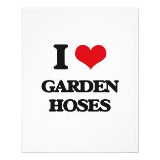 Amo las mangueras de jardín tarjetas informativas