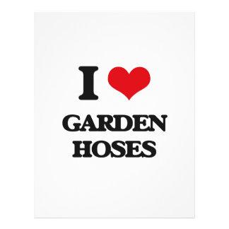 Amo las mangueras de jardín flyer personalizado
