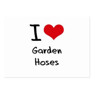 Amo las mangueras de jardín plantilla de tarjeta de negocio