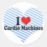 Amo las máquinas cardiias etiquetas