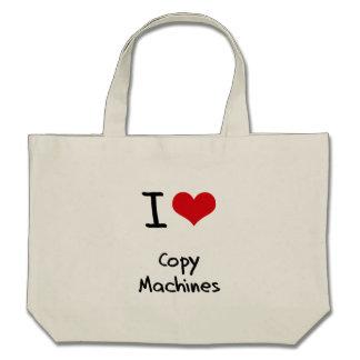 Amo las máquinas de la copia bolsas de mano