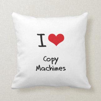 Amo las máquinas de la copia almohada