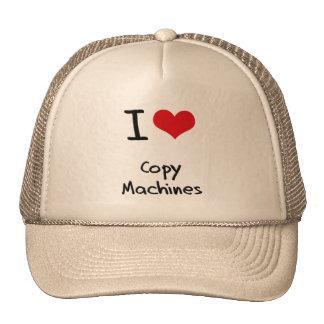 Amo las máquinas de la copia gorras de camionero