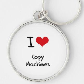 Amo las máquinas de la copia llavero