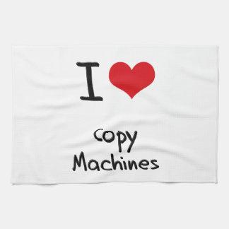 Amo las máquinas de la copia toalla