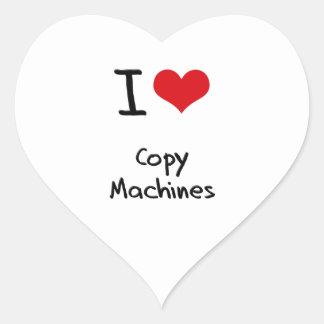 Amo las máquinas de la copia pegatina de corazon