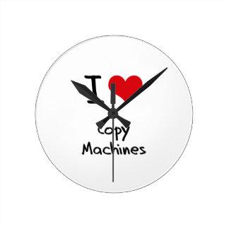 Amo las máquinas de la copia reloj