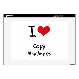 Amo las máquinas de la copia calcomanía para 38,1cm portátil