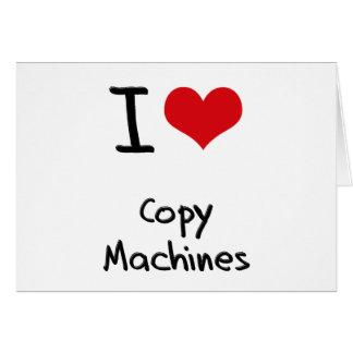 Amo las máquinas de la copia tarjetón