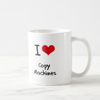 Amo las máquinas de la copia tazas