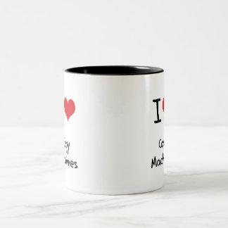 Amo las máquinas de la copia tazas de café