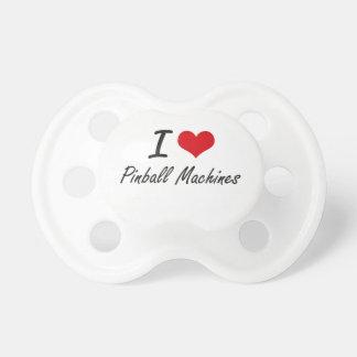Amo las máquinas de pinball chupete de bebe