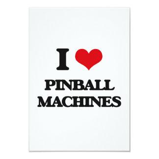 """Amo las máquinas de pinball invitación 3.5"""" x 5"""""""