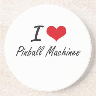 Amo las máquinas de pinball posavasos para bebidas