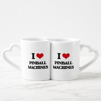 Amo las máquinas de pinball taza para enamorados
