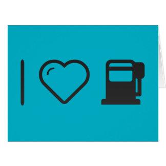 Amo las máquinas del gas tarjeta de felicitación grande