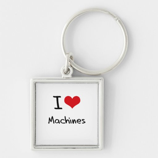 Amo las máquinas llavero personalizado