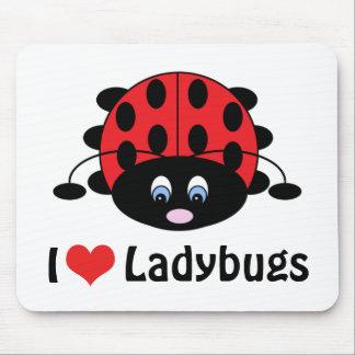 Amo las mariquitas Mousepad
