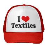 Amo las materias textiles gorros bordados