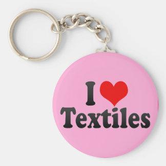 Amo las materias textiles llaveros