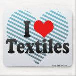 Amo las materias textiles tapetes de ratones