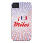 Amo las millas, Iowa iPhone 4 Case-Mate Carcasa