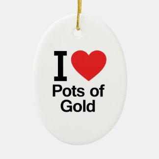 Amo las minas de oro ornamento para reyes magos