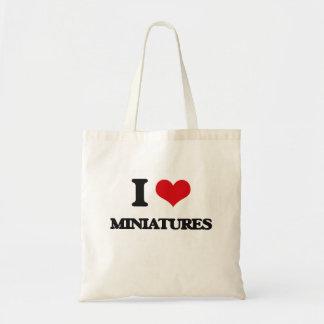 Amo las miniaturas bolsa tela barata