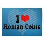 Amo las monedas romanas felicitacion
