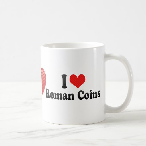 Amo las monedas romanas tazas de café