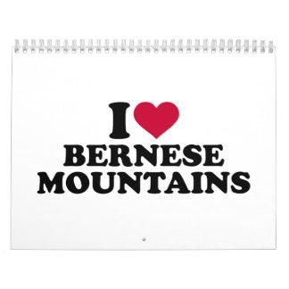 Amo las montañas de Bernese Calendarios