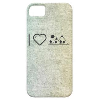 Amo las montañas funda para iPhone 5 barely there