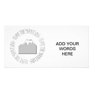 Amo las montañas tarjetas fotograficas