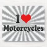 Amo las motocicletas alfombrillas de ratón