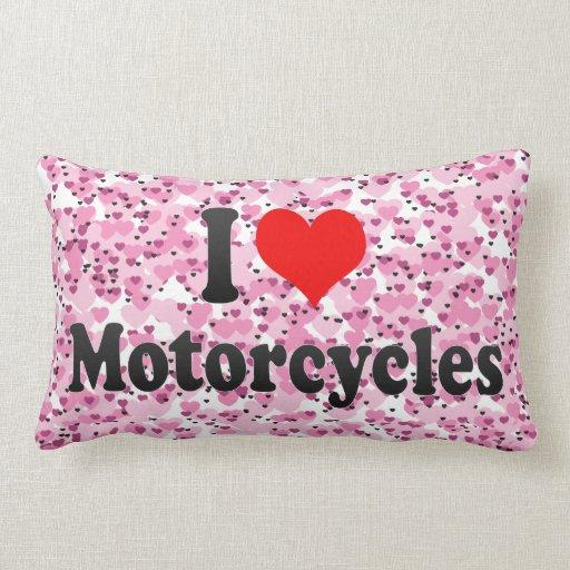 Amo las motocicletas almohada