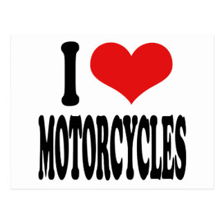 Amo las motocicletas tarjetas postales