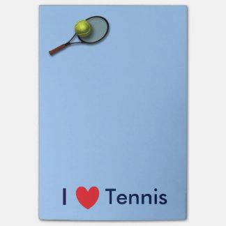 """""""Amo las notas del Poste-it® del tenis"""" 4 x 6"""