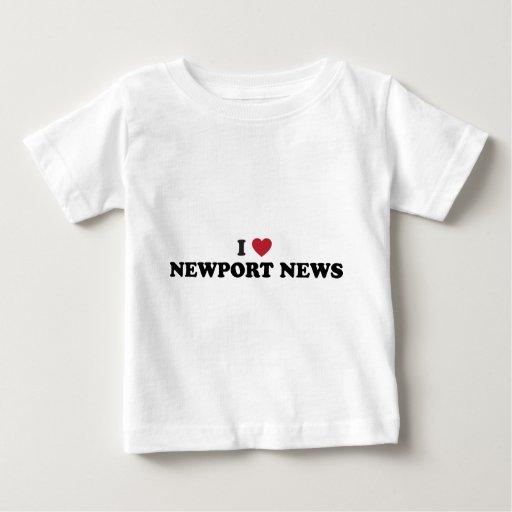 Amo las noticias Virginia de Newport Playeras
