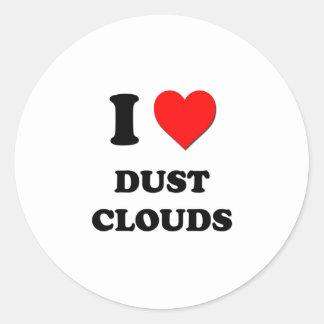 Amo las nubes de polvo pegatinas redondas