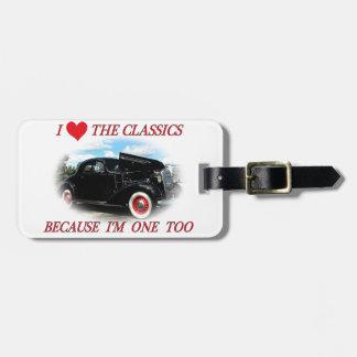 Amo las obras clásicas etiquetas para equipaje