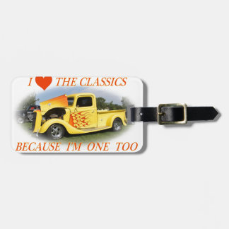 Amo las obras clásicas etiquetas de equipaje