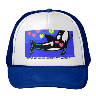 Amo las orcas, roca de las ballenas de la orca mi  gorras de camionero