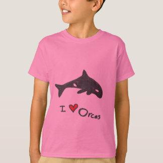 amo las orcas t playera