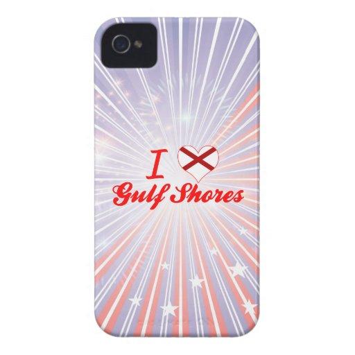 Amo las orillas del golfo, Alabama Case-Mate iPhone 4 Protector