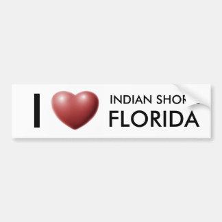 AMO LAS ORILLAS INDIAS, LA FLORIDA PEGATINA PARA AUTO