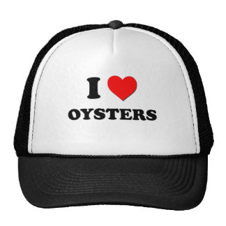 Amo las ostras (la comida) gorros